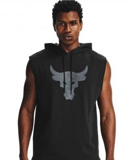 1357181-028 UNDER ARMOUR PROJECT ROCK CHARGED SLEEVELESS HOODIE