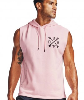 1357182-643 UNDER ARMOUR PROJECT ROCK 3 CHARGED SLEEVELESS HOODIE