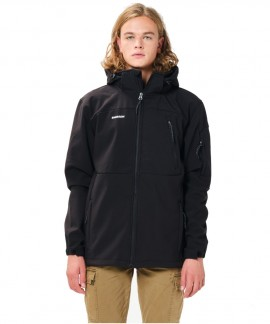 202.EM11.277-013 EMERSON  MEN'S SOFT SHELL JCKT WITH DET/BLE HOOD (BLACK)
