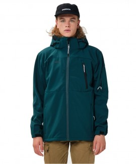 202.EM11.277-BD EMERSON MEN'S SOFT SHELL JCKT WITH DET/BLE HOOD (FOREST)