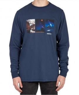 202.EM31.15-025 EMERSON MEN'S L/S T-SHIRT (MIDNIGHT BLUE)