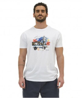 211.EM33.06-004 EMERSON HAWAIIAN PHOTO T-SHIRT (WHITE)