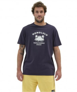 211.EM33.18-007 EMERSON HONOLULU T-SHIRT (NAVY BLUE)