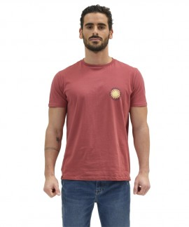 211.EM33.24-013 EMERSON STOKED BY THE SUN T-SHIRT (DUSTY CRANBERRY)