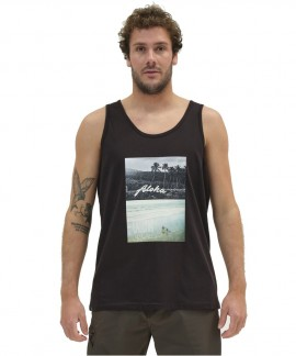 211.EM37.51-001 EMERSON HAWAIIAN TANK TOP (BLACK)