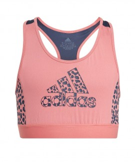 GN1445 ADIDAS DESIGNED TO MOVE LEOPARD BRA TOP
