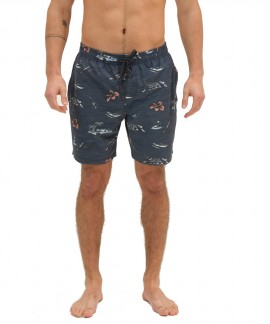211.EM505.12R-026 EMERSON PRINTED PACKABLE VOLLEY SHORTS (PR 239 MIDNIGHT BLUE)