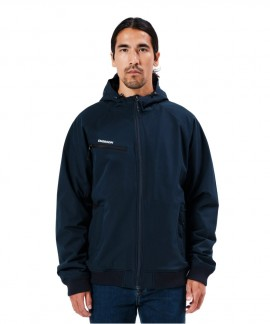 212.EM11.40-009 EMERSON MEN'S SOFT SHELL RIBBED JACKET WITH HOOD - BD NAVY BLUE