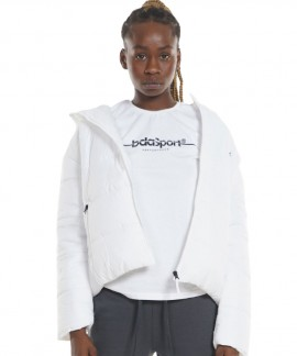 071129-WΗΙΤΕ BODYACTION LOOSE FIT JACKET WITH HOOD