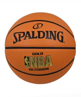 83-013Z1  SPALDING 2014 NBA GOLD OUTDOOR  SIZE 7 R