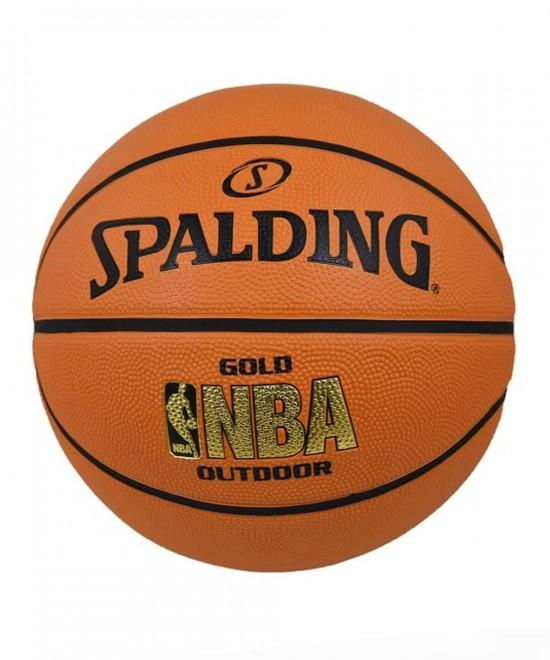 83-013Z1  SPALDING 2014 NBA GOLD OUTDOOR  SIZE 7 R